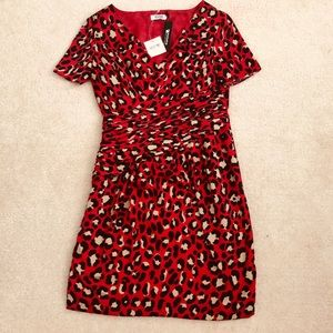 Moschino Leopard Print Gathered Waist Dress